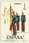 Stamps Spain -  SOLDADO CON LA BANDERA ESPAÑOLA