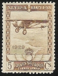 Stamps Spain -  Spirit of Sant Luis over the cost of Europe