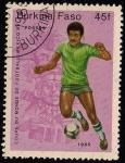Stamps Burkina Faso -  COUPE DU MONDE DE FOOTBALL MEXICO`86