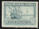 Sellos del Mundo : Europa : España : Santa María y vista de Sevilla