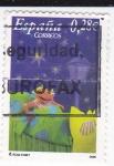 Stamps Spain -  LOS LUNNIS -Nos vamos a la cama    (k)