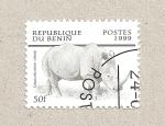 Stamps Benin -  Rinoceronte