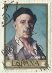 Stamps Spain -  AUTORRETRATO DE IGNACIO DE ZULOAGA