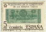 Sellos del Mundo : Europa : España : BICENTENARIO DE LA CONSTITUCION DE LOS ESTADOS UNIDOS