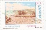 Sellos de Europa - España -  Arqueología-cabezo de Alcalá de Azáila-Teruel   (k)