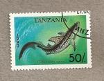 Stamps Africa - Tanzania -  Pez Galocerdo cuvier