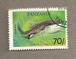 Stamps Africa - Tanzania -   Pez Sguatina afrikana