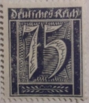 Sellos de Europa - Alemania -  detfches reich 1922
