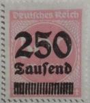 Stamps Germany -  deutfches reich 1922