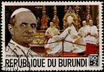 Stamps Africa - Burundi -  Primera visita del Papa a Africa