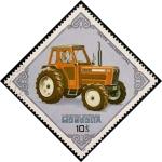 Sellos de Asia - Mongolia -  Tractores