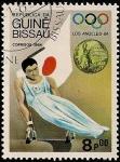 Stamps Guinea Bissau -  Olimpiada Los Angeles 1984