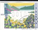 Stamps Switzerland -  lago alpino