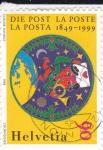 Sellos de Europa - Suiza -  150 años del correo 1849-1999
