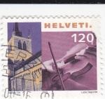 Sellos de Europa - Suiza -  Violín