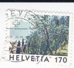 Stamps Switzerland -  bosque alpino