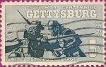 Stamps United States -  Centenario de la Guerra Civil. Centenario de la Batalla de Gettysburg.