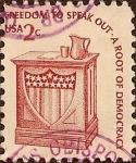 Stamps : America : United_States :  Edición Americana. Estrado de los oradores.
