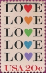 Stamps : America : United_States :  Love (Amor).