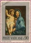Stamps : Europe : Vatican_City :  Virgen y el Niño, por Carlo Maratta.