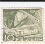Stamps : Europe : Switzerland :  Tren cremallera
