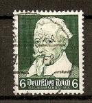 Stamps Germany -  350 aniversario del nacimiento de Heinrich Schutz.