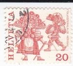 Stamps Switzerland -  Fiesta Popular