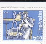 Sellos de Europa - Suiza -  Cocinero