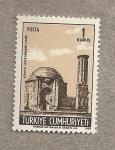 Stamps Turkey -  Minarete y mezquita de Konya