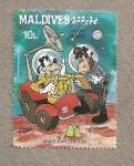 Stamps Asia - Maldives -  Exploración del espacio