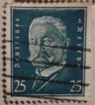Sellos de Europa - Alemania -  presidente paul von hindenburg.deutfches reich 1931