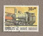 Stamps Africa - Guinea Bissau -  Locomotora antigua