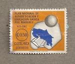 Stamps Costa Rica -  Plan Nacional de Alfabetización