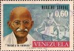 Stamps : America : Venezuela :  Cumpleaños 103 de Mohandas K. Gandhi (1869-1948).