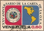 Sellos del Mundo : America : Venezuela : XXV Aniversario de la Carta de la OEA.