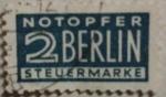 Sellos del Mundo : Europa : Alemania :  berlin notopfer steuermarke. rusia rara 1946