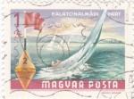 Stamps Hungary -  Deporte de vela en lago Balaton