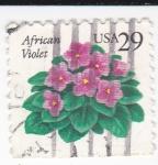Sellos de America - Estados Unidos -  African Violet