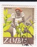 Sellos de Africa - Zambia -  recolectora de tabaco