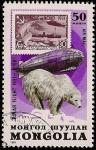 Sellos de Asia - Mongolia -  50 Aniversario 1er Vuelo Polar