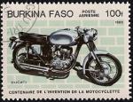 Sellos del Mundo : Africa : Burkina_Faso : Centenario de la Invención de la Motocicleta