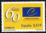 Stamps Spain -  4482- 60º Aniversario del Consejo de Europa.
