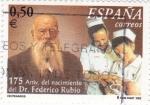 Sellos de Europa - España -  175 Aniv. del nacimiento del Dr. Federico Rubio       (L)