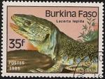 Sellos del Mundo : Africa : Burkina_Faso : Reptiles