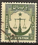 Sellos del Mundo : Asia : Pakistán : Justicia a la escala.