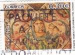 Sellos de Europa - España -  Mosaico Villa Romana de la Olmeda-Paléncia-       (L)
