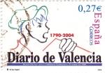 Sellos de Europa - España -  Diario de Valencia        (L)