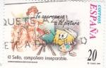 Stamps Spain -  El Sello compañero inseparable-TE ACERCAMOS A LA PINTURA    (L)