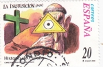 Stamps Spain -  Historia de España- LA INQUISICIÓN        (L)