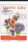 Stamps Spain -  Flora-  Pensamiento  (L)